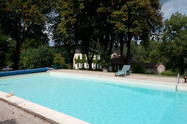 a large heated pool